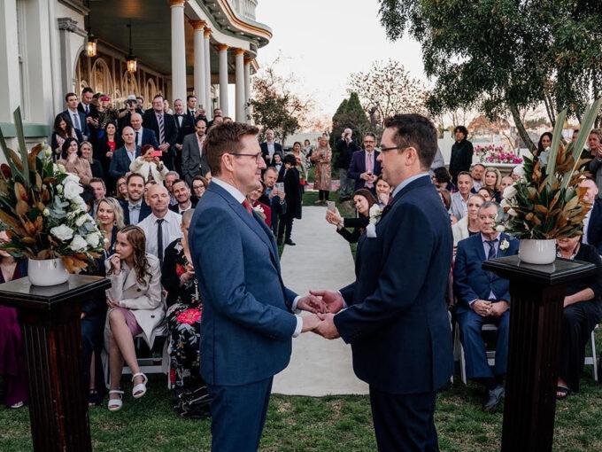 Grooms Taking vows