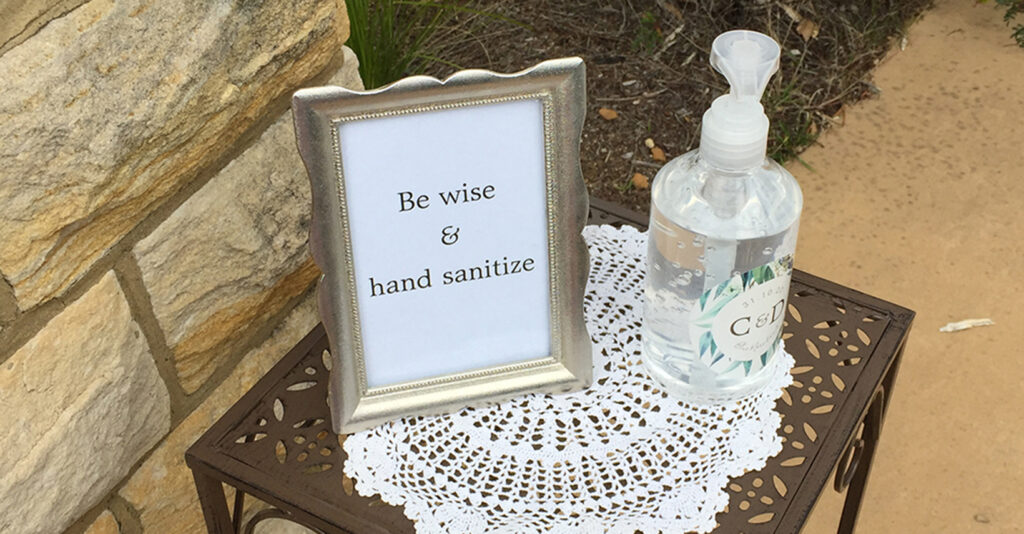 Hand Sanitize Wedding Ceremony Og