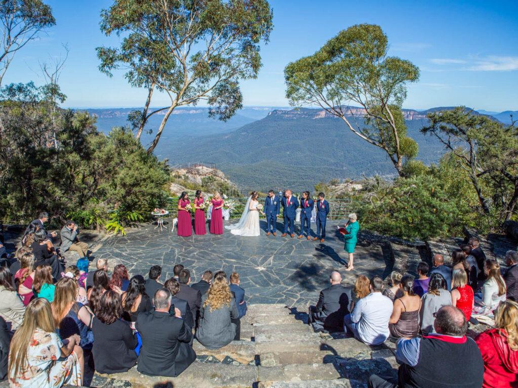 Celebrant Conducting Ceremony at Leura